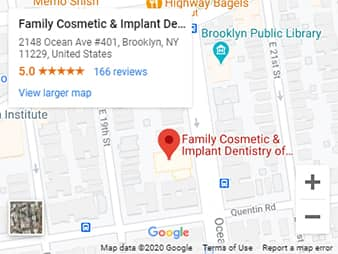 Family Cosmetic Dentistry Brooklyn Map and Directions
